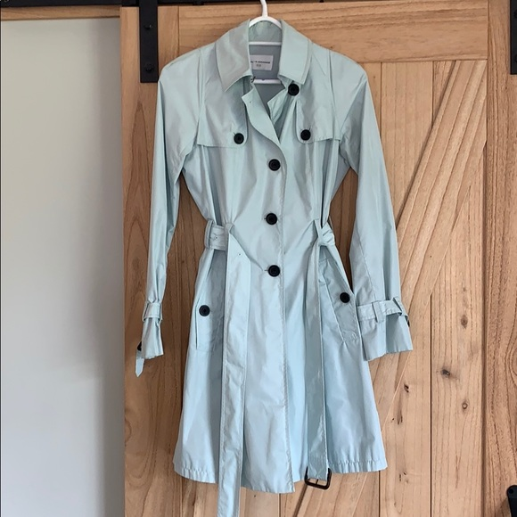 Club Monaco Jackets & Blazers - Club Monaco Light Blue Trench Coat